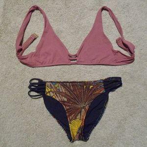 L*SPACE Monroe Top*M & Low Down Bikini Bottom*S